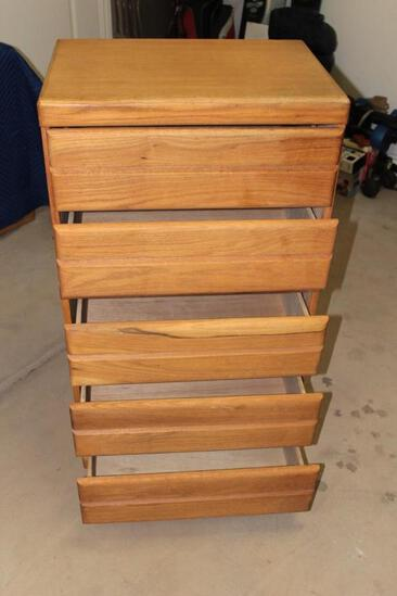 5 drawer oak chest