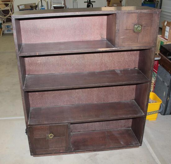 Book Shelf- 4 shelves with 2 enclosed coveys