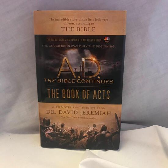 """""""A.D. The Bible Continues: The Book of Acts"""" Written by Dr. David Jeremiah Hardcover"""