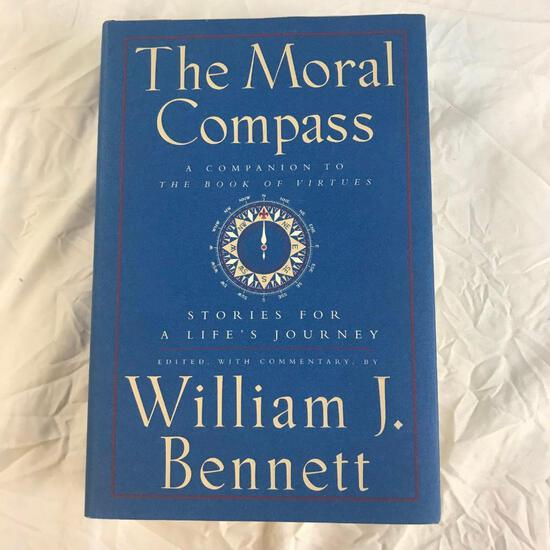 """""""The Moral Compass: Stories for a Life's Journey"""" Edited by William J. Bennet Hardcover"""