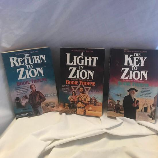 """Set of Books 3-5 of """"The Zion Chronicles"""" Written by Bodie Theone Paperback"""