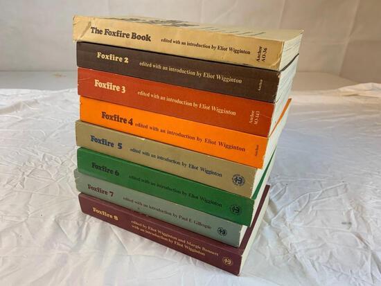 Original Vintage FOXFIRE Paperback Book set 1-8 Homesteading Prepping Lifestyle