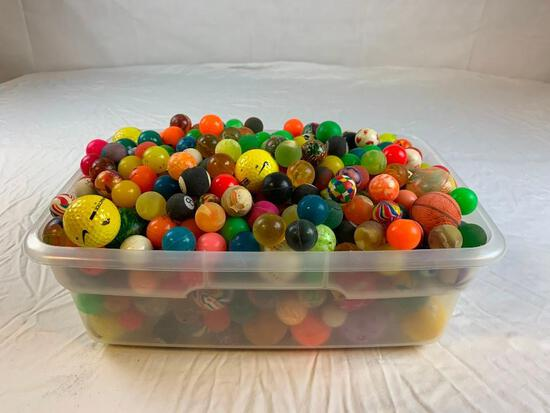 Large Lot of bouncy balls over 200 Balls