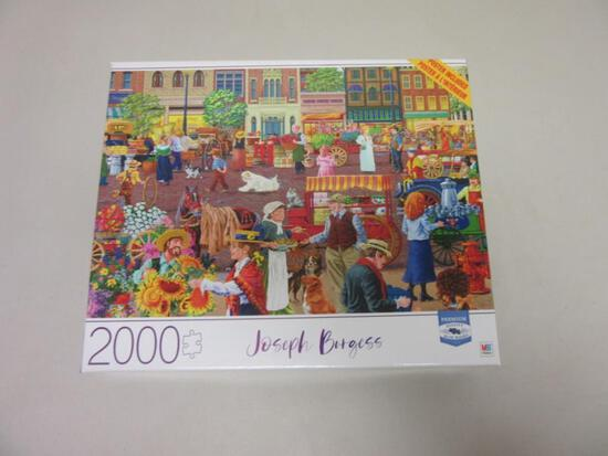 "STREET VENDOR MORNING by Joseph Burgess 2000 Piece Puzzle 32""x24"""