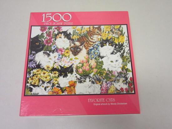 "FAVORITE CATS By Wendy Christensen 1500 Piece Puzzle 24""x33"""