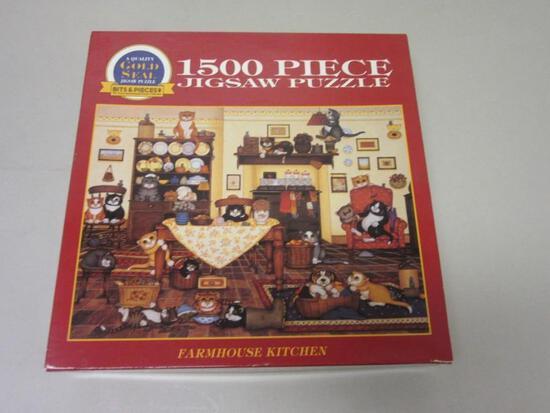 """FARMHOUSE KITCHEN 1500 Piece Jigsaw Puzzle 24""""x33"""""""