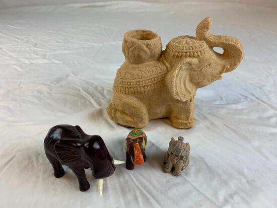 Lot of 3 Elephant Figures