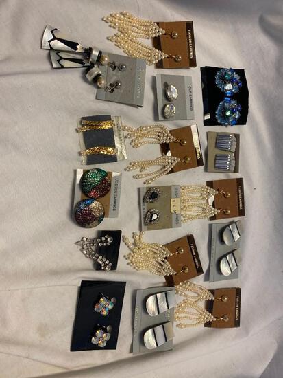 Lot of 16 Misc. Clip-On Earrings