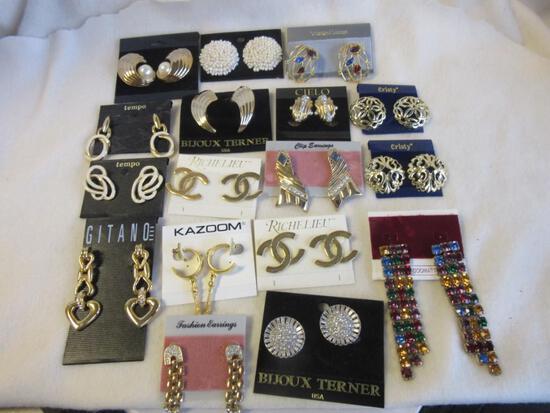 Lot of 17 Misc. Pierced Costume Earrings