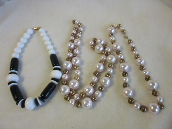 Lot of 3 Misc. Beaded Costume Necklaces