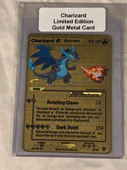 POKEMON Charizard Limited Edition Gold Metal Card
