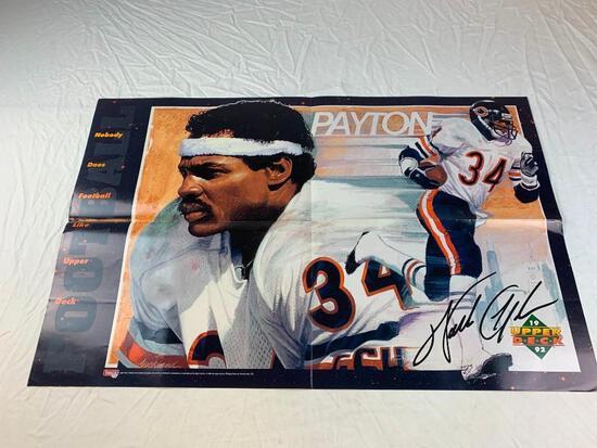 WALTER PAYTON Bears 1992 Upper Deck Football Promo Poster 22 x 34
