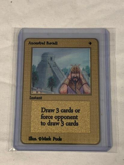 MAGIC THE GATHERING Ancestral Recall Limited Edition Gold Metal Card