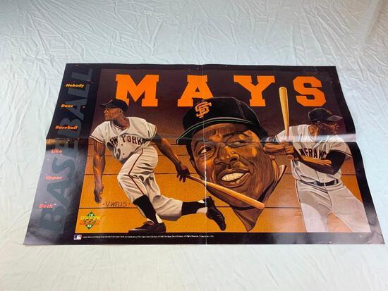"WILLIE MAYS 1993 Upper Deck Baseball Promo Poster 22"" x 34"""