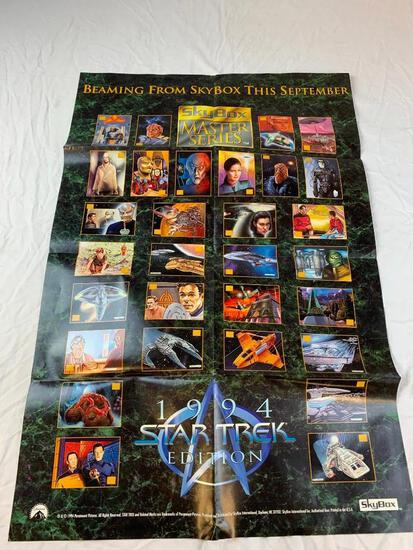 "1994 SKYBOX STAR TREK MASTER SERIES PROMO POSTER 21"" X 32"""