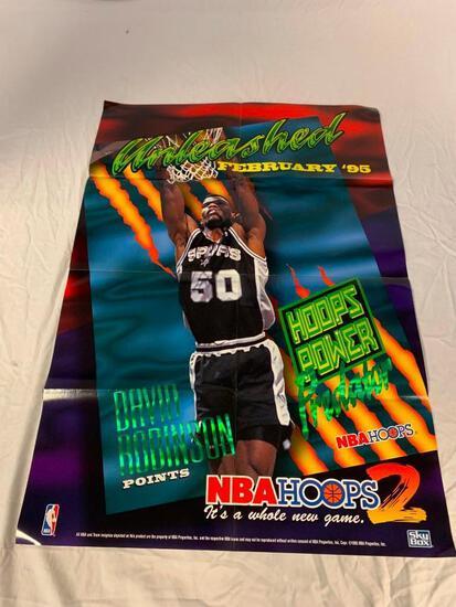1995 Skybox HOOPS series 2 Retailer PROMO DAVID ROBINSON Poster