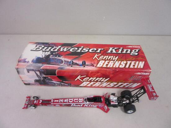 BUDWEISER KING Kenny Bernstein Formula 1 Race Car 1:24 Scale w/ Box
