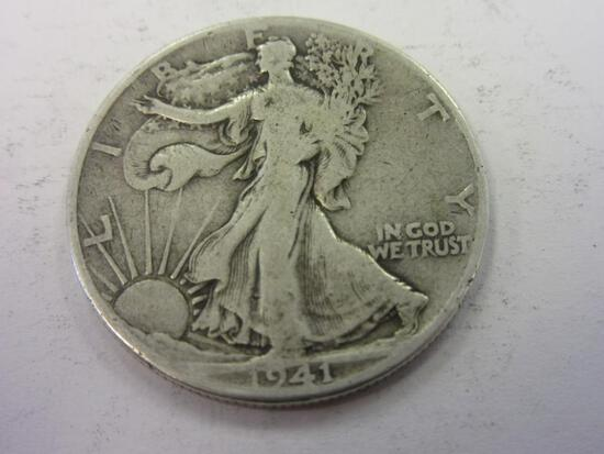 1941 .90 Silver Walking Liberty Half Dollar