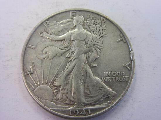 1941-D .90 Silver Walking Liberty Half Dollar