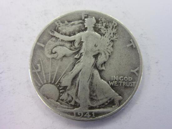 1941-D .90 Silver Walking Liberty Half Dollar