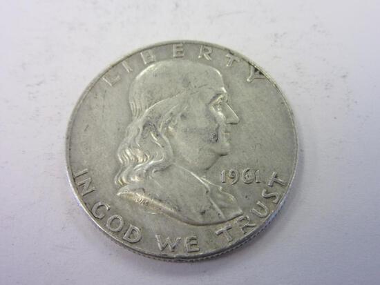 1961-D .90 Silver Franklin Half Dollar