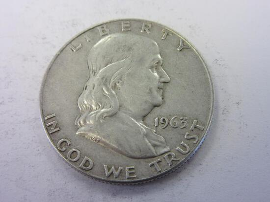 1963-D .90 Silver Franklin Half Dollar