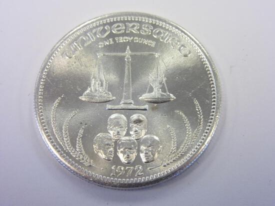 .999 Silver 1oz 1972 Universaro Bullion