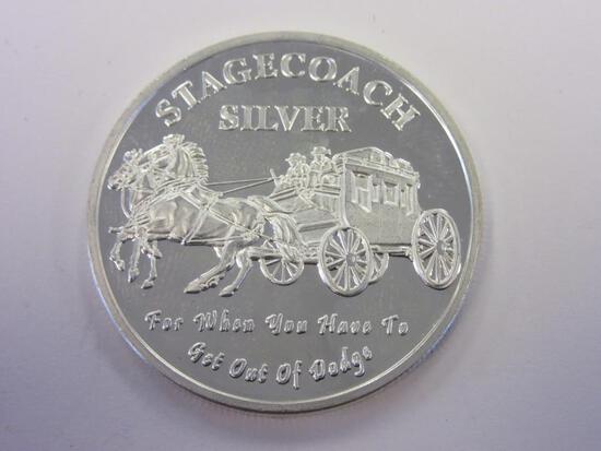 .999 Silver 1oz Stagecoach Silver Bullion