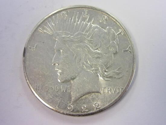 1922-S .90 Silver Peace Dollar