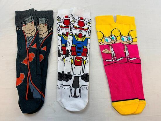 Lot of 3 NEW characters Socks