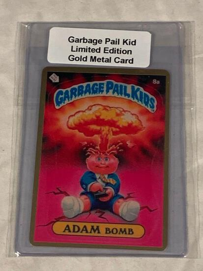 Garbage Pail Kids ADAM BOMB Limited Edition Gold Metal Card