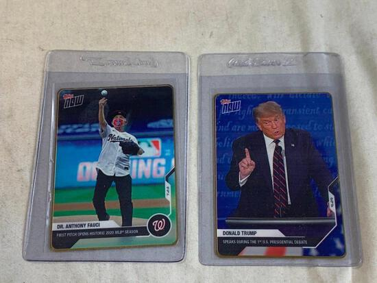 Limited Edition DONALD TRUMP and DR ANTHONY FAUCI Gold Metal Trading Cards