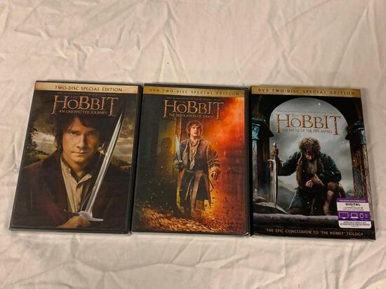 The Hobbit Trilogy all 3 Films on DVD NEW SEALED