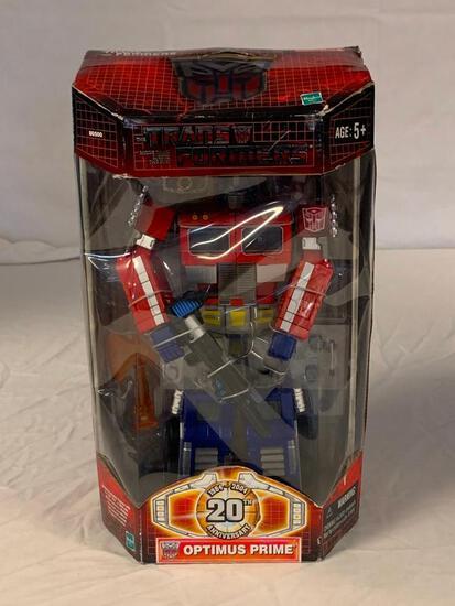 OPTIMUS PRIME Transformer 20th Anniversary Black Gun 2003 Action Figure NEW with box