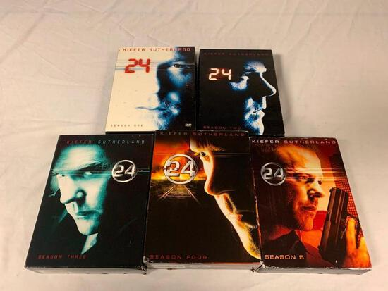 24 Kiefer Sutherland Complete Season 1-5 DVD Box Sets
