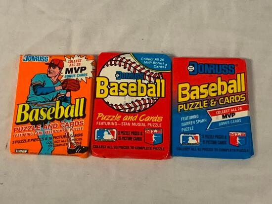 1989 1990 and 1991 Donruss Baseball Cards lot of 3 sealed card Packs