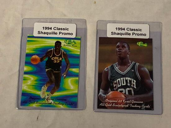 Lot of 2 SHAQUILLE O'NEIL 1994 Classic Promo Basketball Cards