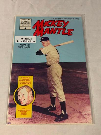 MICKEY MANTLE Magnum Comics #1 1st Issues RARE Low Print Run