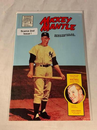 MICKEY MANTLE Magnum Comics #2 2nd Issues RARE Low Print Run