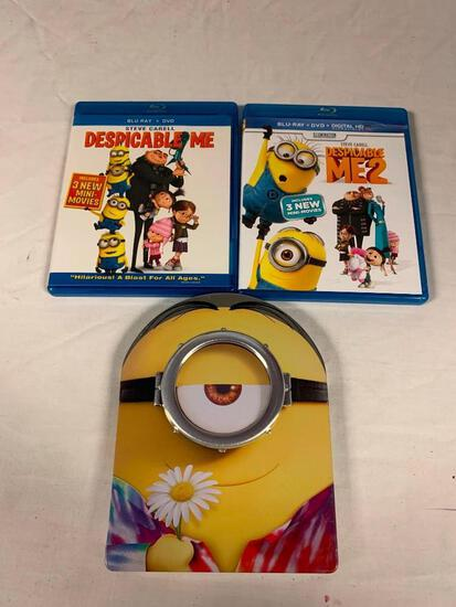 Despicable Me 1 and 2 plus Minions Steelbook BLU-RAY Movies