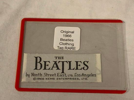 Original 1966 BEATLES Clothing Tag RARE