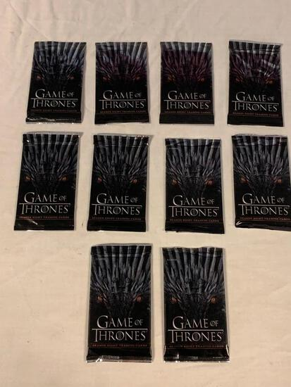 10 GAME OF THRONES Trading Card Packs Look for inserts SEALED