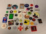 Lot of 40 Vintage Pins Pinback Buttons Movies and others