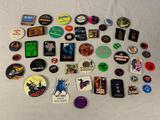 ...Lot of 50 Vintage Pins Pinback Buttons Movies and others