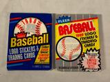 1988 and 1989 Fleer Baseball Lot of 2 Sealed Card Packs. Look for the Griffey Jr. Randy Johnson RC