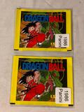 Lot of 2 DRAGONBALL 1986 Panini Packs of Stickers SEALED