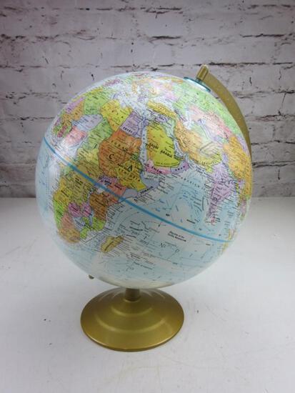 "GLOBEMASTER World Globe on Stand 16"" Tall"