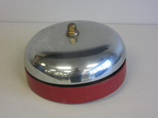 "Large Wall-Mounted Fire Alarm Bell 10.5"" in Diameter Marked ""52F"""
