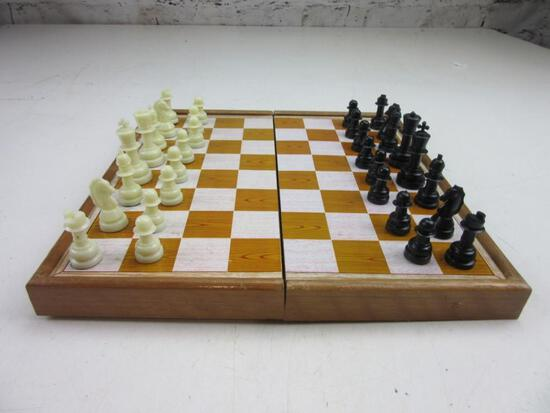 """Travel Chess Set with All Pieces Accounted For 10.5""""x10.5"""""""