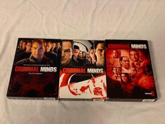 CRIMINAL MINDS Season 1,2 and 3 DVD Sets